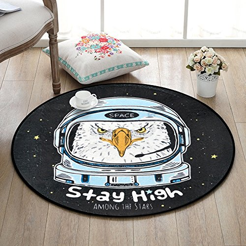 Fashion Animal Pattern Carpet Creativity Non-Slip Round Floor Mats Bedroom Kids Room Computer Chair Bathroom Blanket ( Size : 150150cm-b ) by Unknown