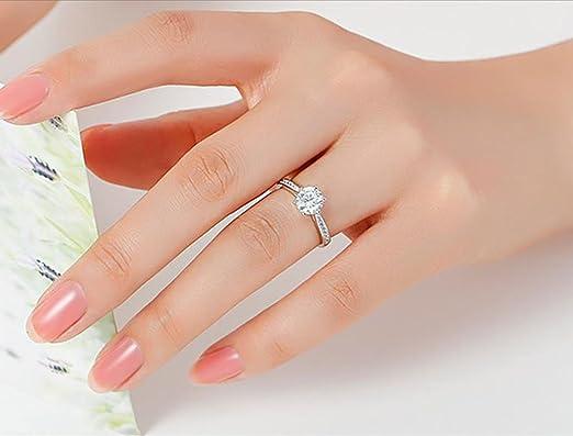 Plata anillos de boda fablcrew apertura ajustable anillo de simulaci/ón de imitaci/ón anillo para dama ni/ñas