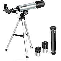 OUTERDO telescopio astronómico, telescopio niños telescopio astronómico–Telescopio portátil