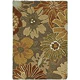 Safavieh Soho Collection SOH820A Handmade Brown and Multi Premium Wool Area Rug (2' x 3')