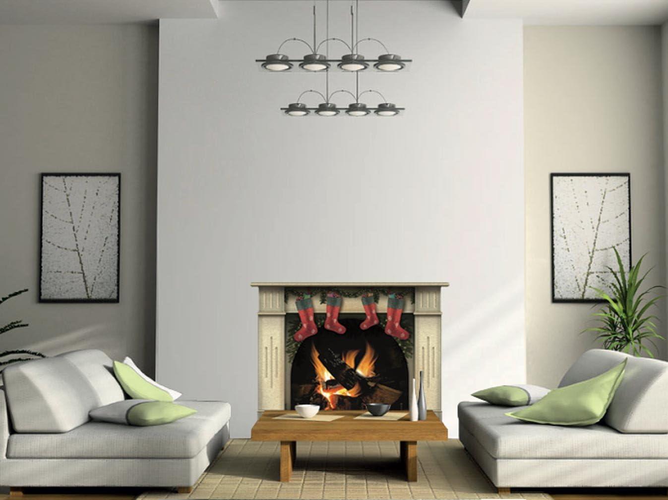 Chemin/ée incroyable avec le calque de d/écoration dint/érieur de mur de bois de feu Grand, Gris d/écor vintage pour votre maison ou appartement