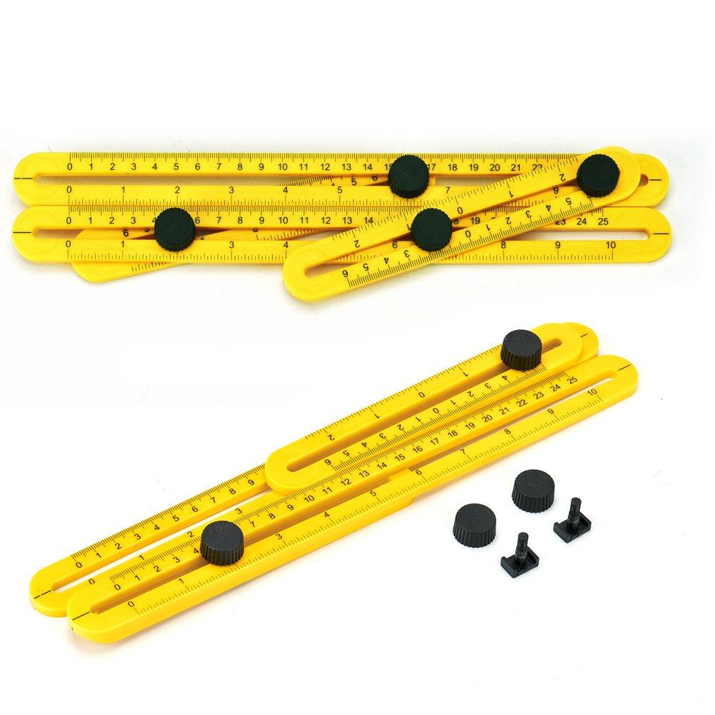 GYMAN Multi-Angle Measuring Ruler Angle Izer Template Tool for Handyman Builders Craftsman DIY-ER by GYMAN (Image #8)