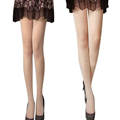 katesid Lots de 2 pcs Collants Maille Femme Elastique Collants Résilles  Sexy Sans Couture Filet Extensible e09ee3d02c6