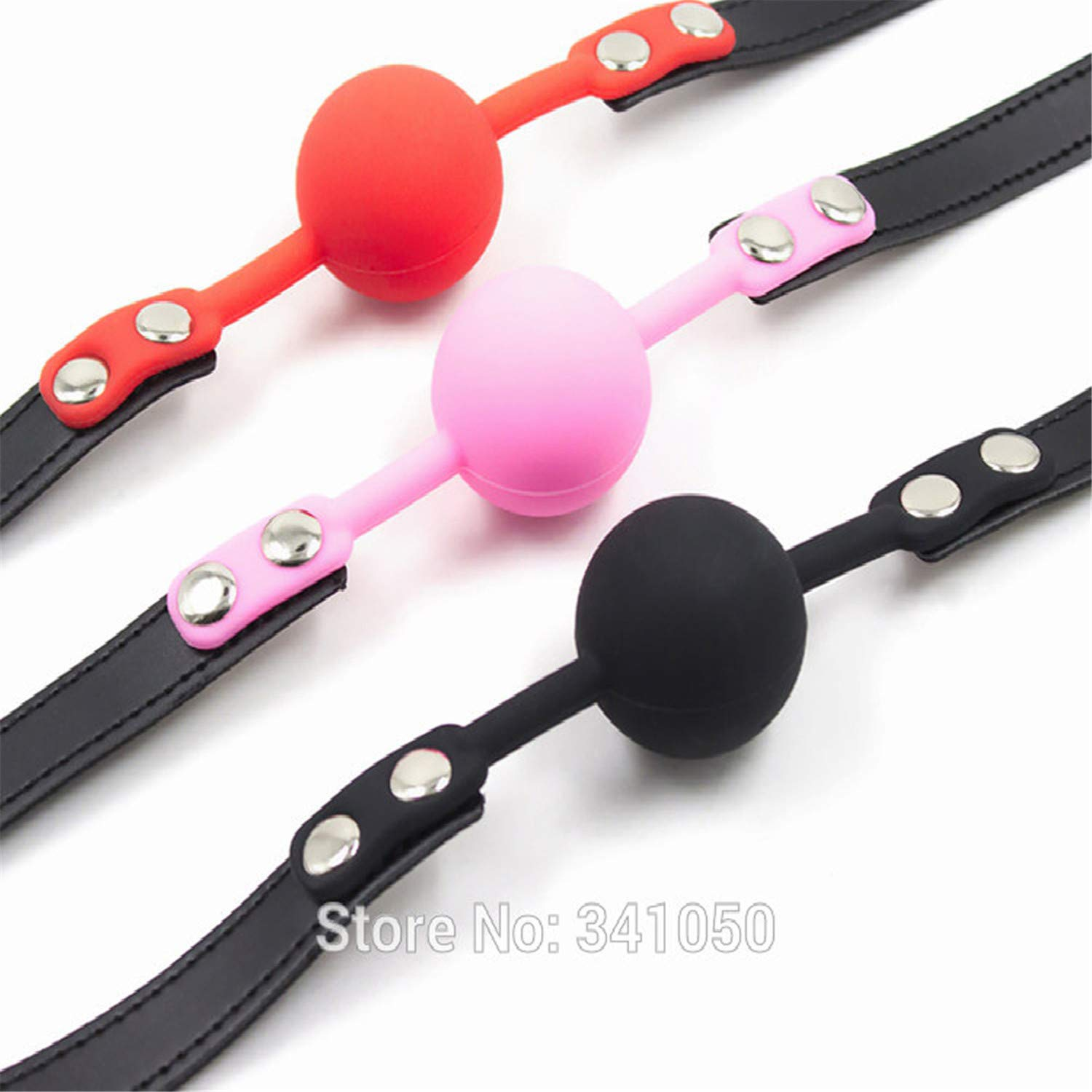 Amazon.com: spyman childrens-party-favor-sets Adult Games 3 Colors  Rubber&Pu Leather Erotic Toys Silicone Ball Gag Open Mouth Gag Sex Toy Slave  Gag for ...