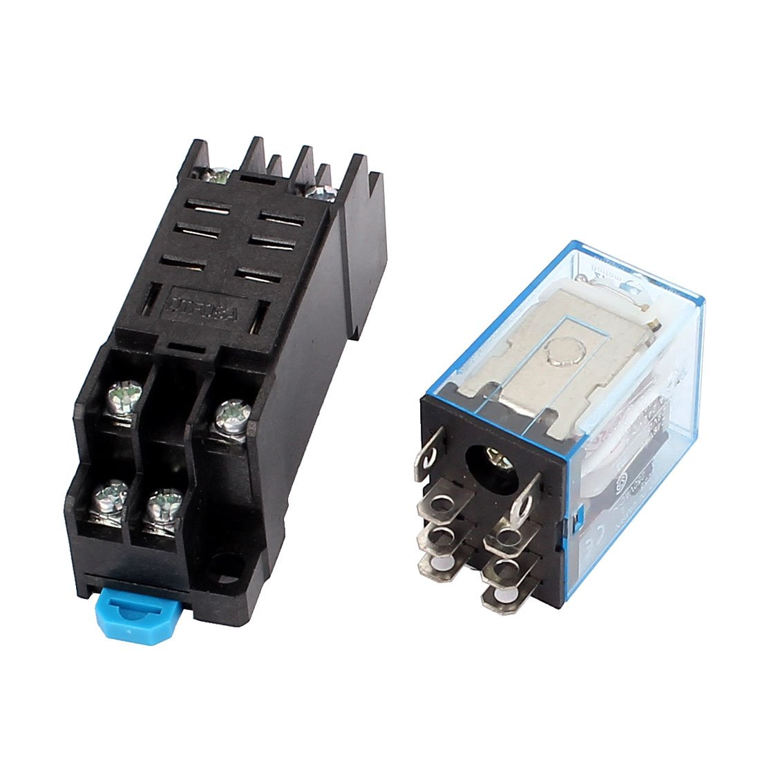 uxcell AC 110//120V Coil 8 Pin DPDT Electromagnetic Power Relay w Socket Base