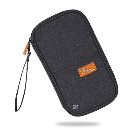 0dcc0f01b RFID Blocking Travel Passport Wallet Family Passport Holder Document  Organizer Waterproof Ticket Holder Journey Case(Black)  Amazon.ca  Luggage    Bags
