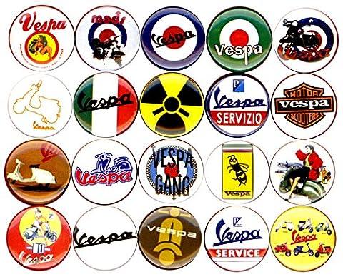 Vespa x 20 NEW buttons pins badges scooter ska mod target rockabilly - Vespa Cable