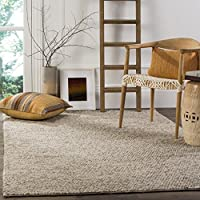 Safavieh Natura Collection NAT620B Hand-Woven Beige Wool Area Rug (3 x 5)