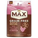NUTRO MAX Grain Free Adult Recipe With Farm Raised Chicken Mini Chunk Dry Dog Food; (1) 25-lb. bag, Rich in Nutrients and Full of Flavor