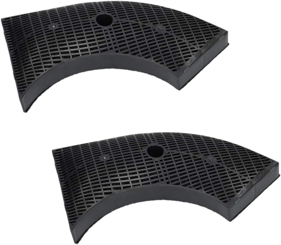 2 filtros de carbón activo para campana extractora Bosch DHZ2400 DHU665E Siemens 00647277 LZ24000 Viva 647276 VVZ11V10: Amazon.es: Grandes electrodomésticos