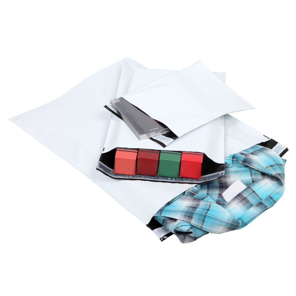 500 x Folienversandtasche 325 x 425mm LDPE Coexfolie mit selbstklebenden Sicherheitsverschluss