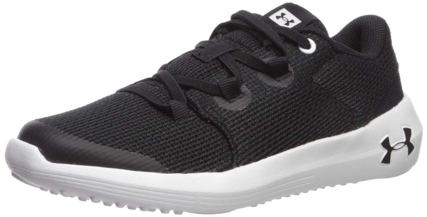 Under Armour Unisex-Kid's Pre School Ripple 2.0 Alternate Lace Sneaker, Black (001)/White, 13.5K by Under Armour