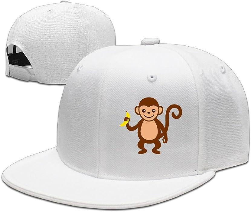 Cute dibujos animados mono con Banana Cool sombreros de béisbol gorras de béisbol