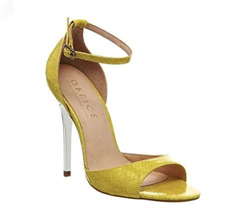 a95a95aa7668 Office Priscilla Single Sole Sandal Lime Snake Silver UK 8  Amazon.co.uk   Shoes   Bags