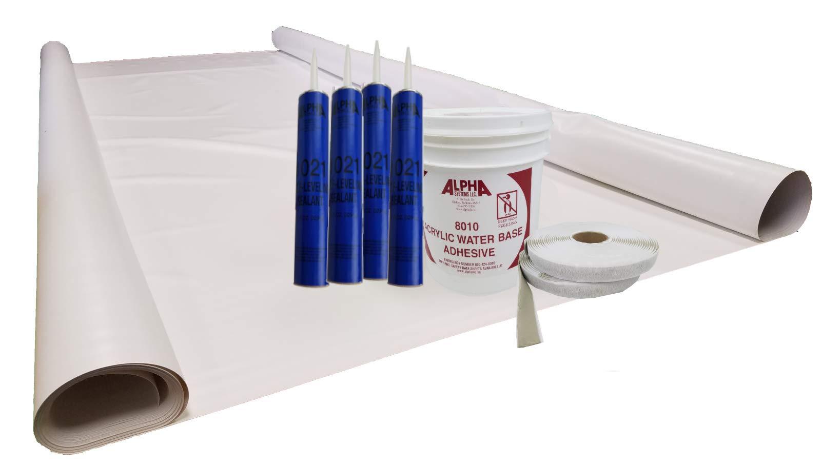 Class A Customs Sure-Flex PVC RV Rubber Roof Kit 9.5' X 25' Complete Kit by Class A Customs (Image #1)
