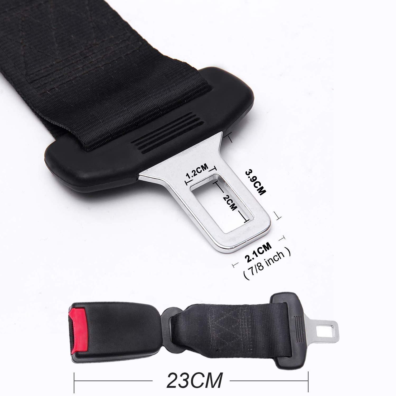 Prolunga Cintura Sicurezza per Seggiolino Auto GUHEE Prolunga Cintura Sicurezza Estensore Cinture Sicurezza Auto per Bambino Donna Incinta Uomo Anziano Persona SANGYM Cintura Auto Prolunga