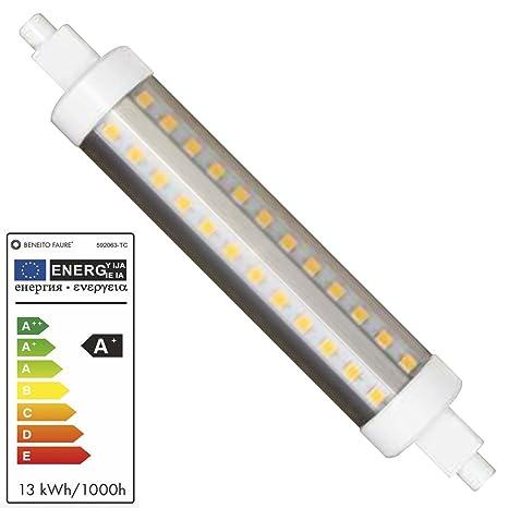 HQI TUBULAR 13W RX7S 138MM 220V 360º LED de Beneito Faure - Blanco cálido, R7S