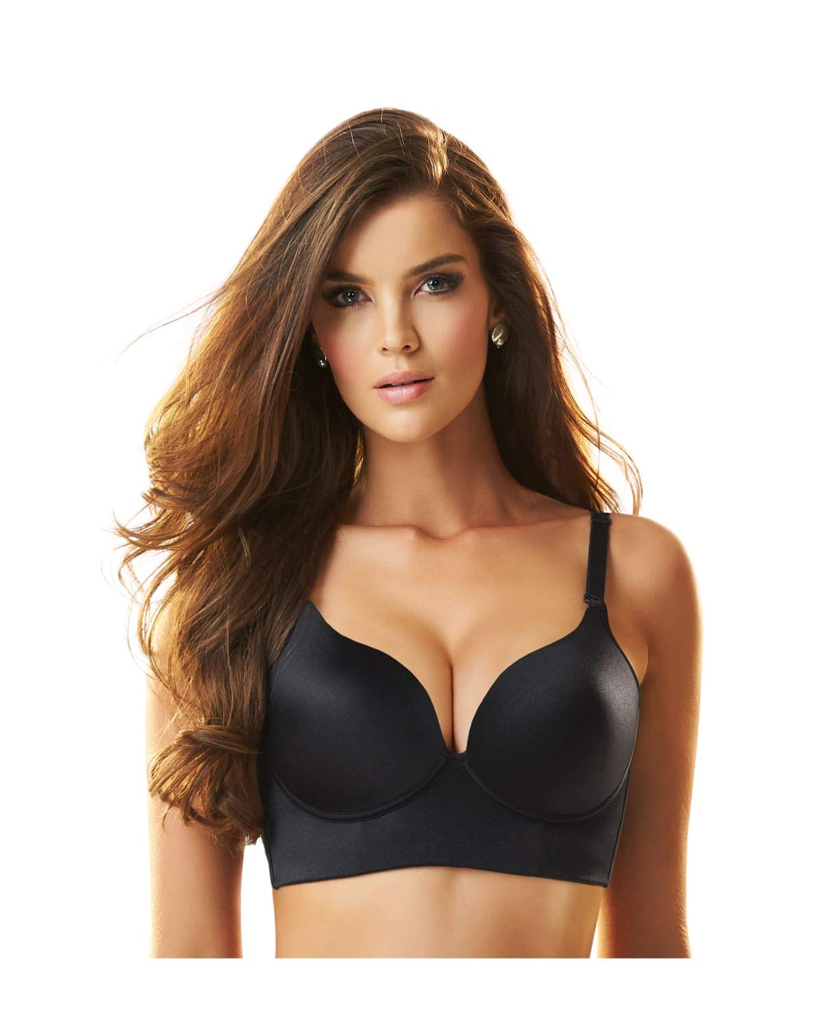 Leonisa Womens Support Wireless Sexy Push Up Bra