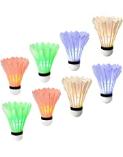 Ohuhu LED Badminton Shuttlecocks, Dark Night Glow Birdies Lighting for Outdoor Indoor Sports Activities, 8-Pack