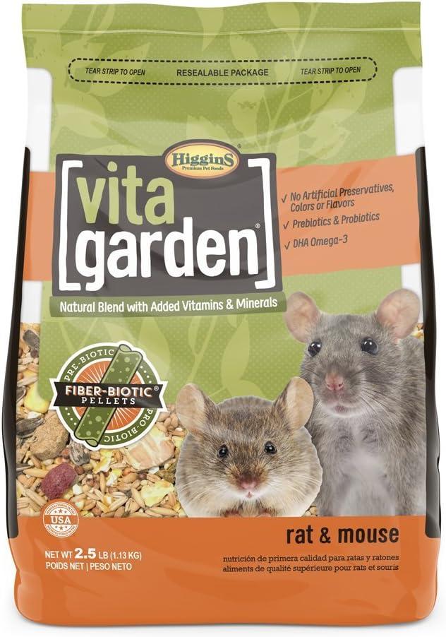 Higgins Vita Garden Rat & Mouse Food, 2.5 Lbs, Large