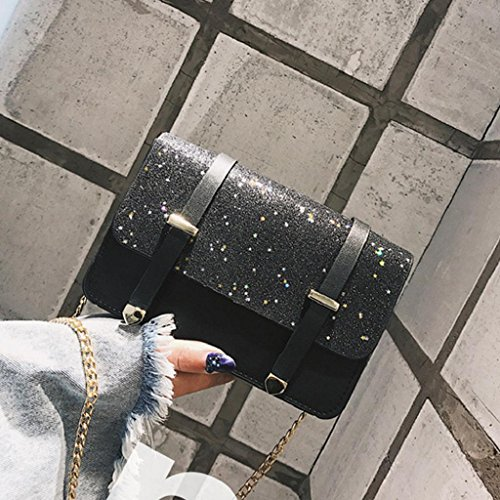 Bag Elegant Bags Sequined Messenger Bag Quicklyly Bag Women Shoulder Crossbody Shoulder Black 10w8da