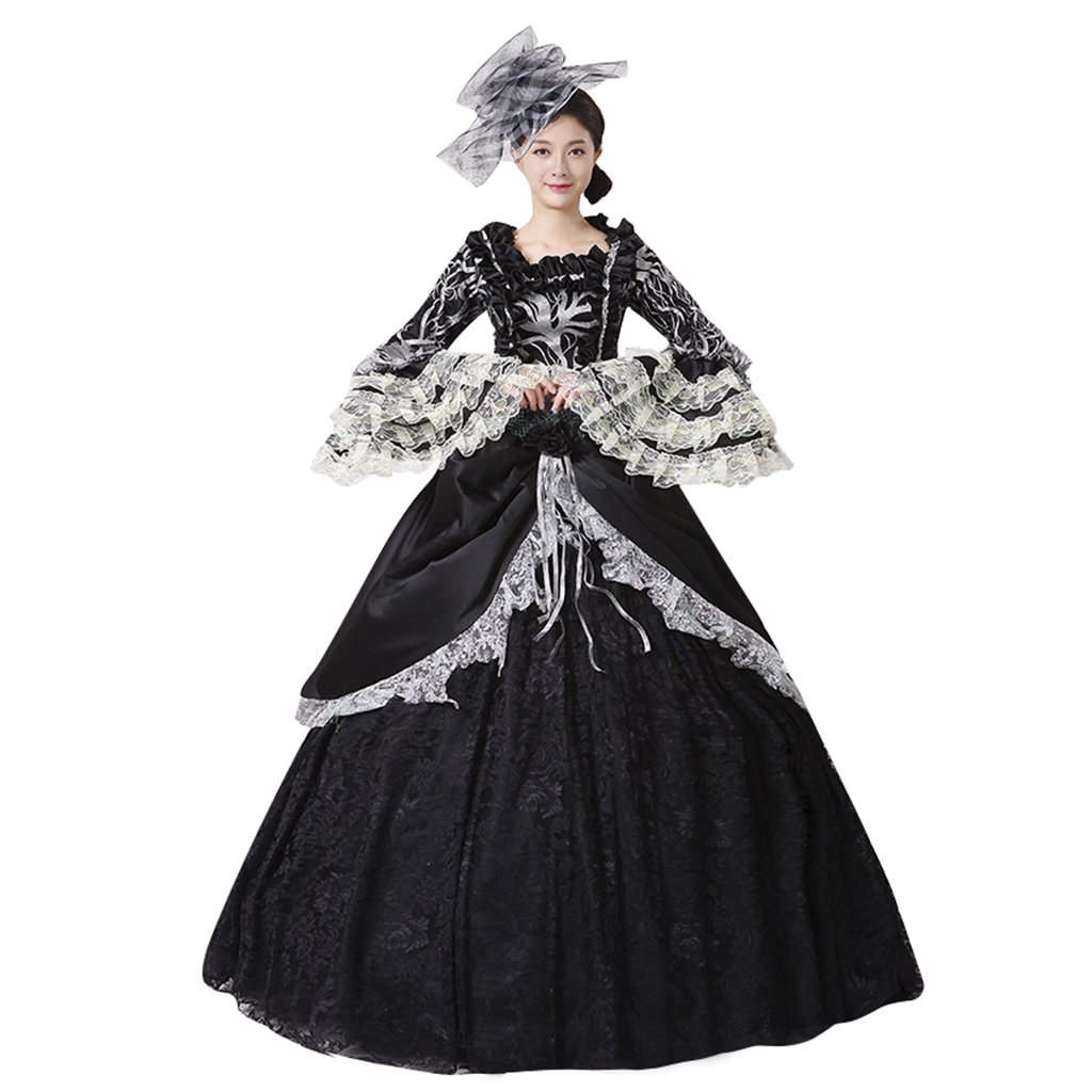 Masquerade Ball Clothing: Masks, Gowns, Tuxedos 1791s lady Gothic Retro Victorian Dress Costume Black $132.90 AT vintagedancer.com