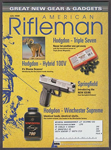 AMERICAN RIFLEMAN Smith & Wesson Ruger LCP .380 Game Airgun Mosin-Nagant 7 2008 (Airgun Wesson Smith)