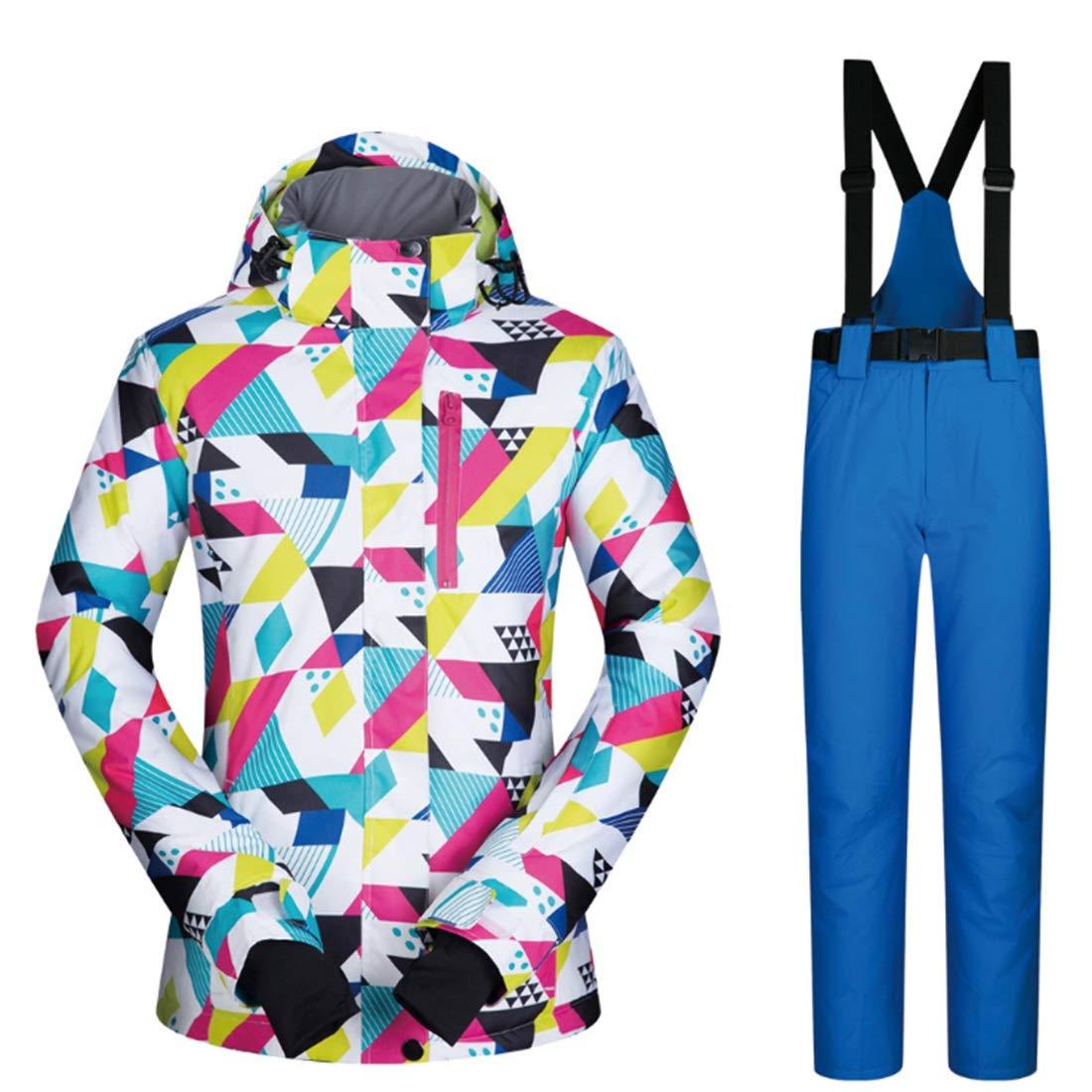 8 XIAMEND Windproof & Waterproof Women Jacket, Outdoor Sport Winter Girl Coat Dress Ski Jacket (color   02, Size   M)