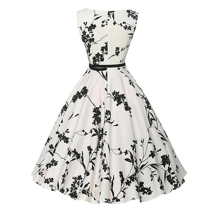 Vestidos Mujer Elegante Verano 2018,Sonnena Damas Mujeres Vintage Floral impresión Cuello-O Bodycon