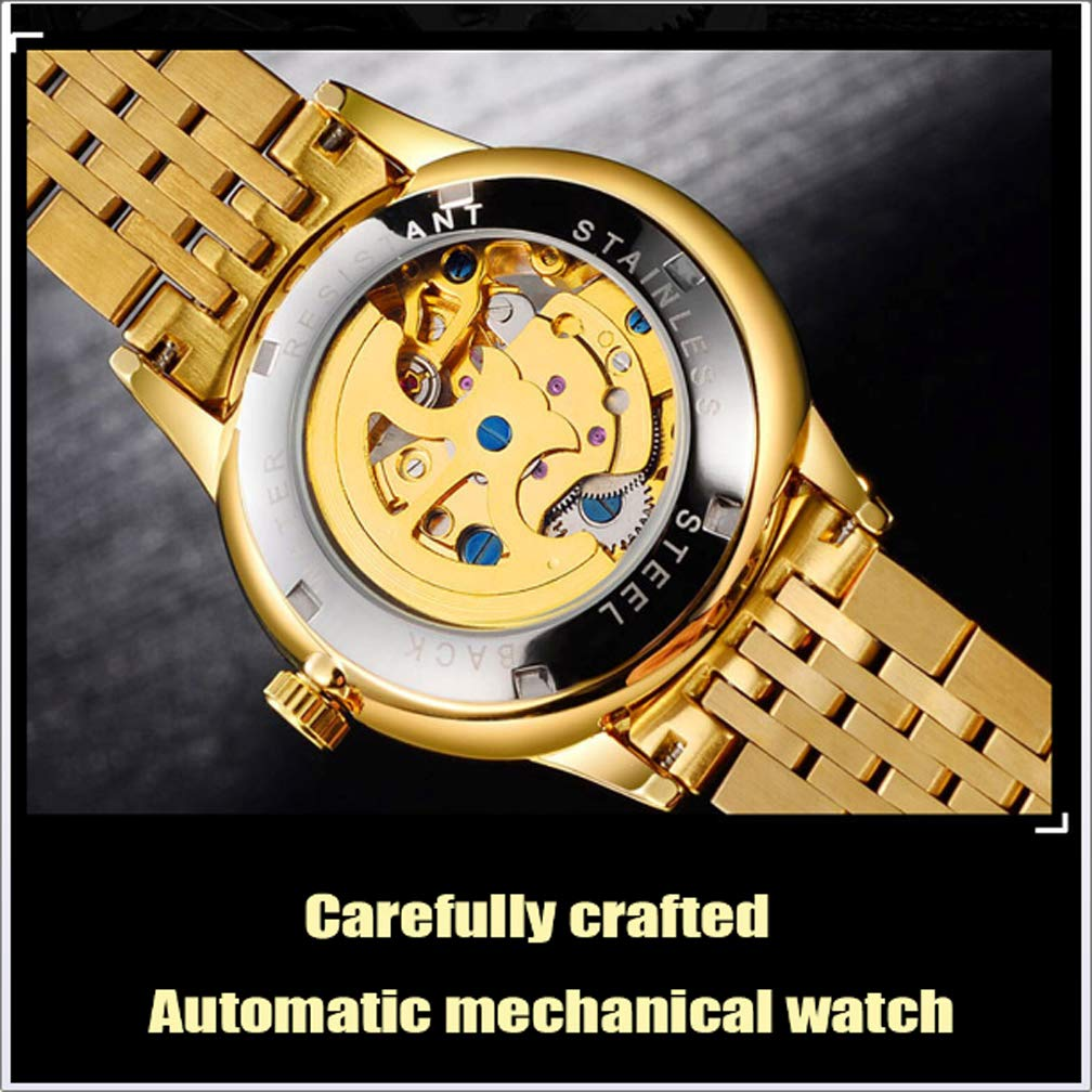 Amazon.com : EJOLG Automatic Men Watches, Waterproof, with Calendar Luminous Mineral Tempered Lens Watches for Man, A : Sports & Outdoors