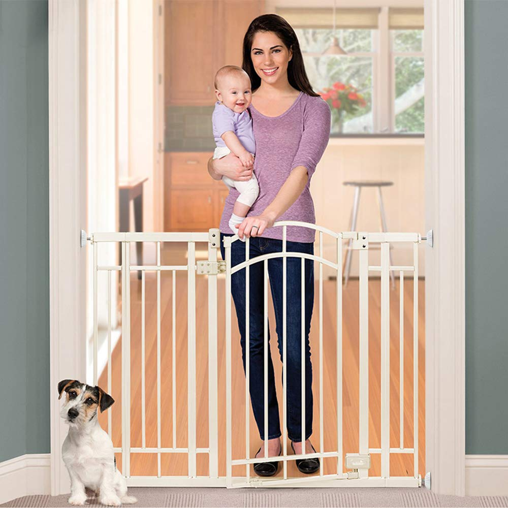 LATME Baby Gate Wall Protector Make Pressure Mounted Safety Indoor Gates More Stable-Wall Damage-Free Fit for Bottom of Gates Doorway Stairs Baseboard Work with Dog Pet Child Gates (White, Round) by LATME (Image #6)