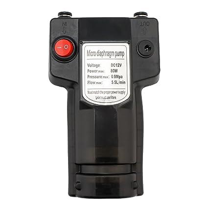 Micro Diaphragm Pump, EnPoint Self-priming High Pressure Water Diaphragm Pump 12V 80W 5.5
