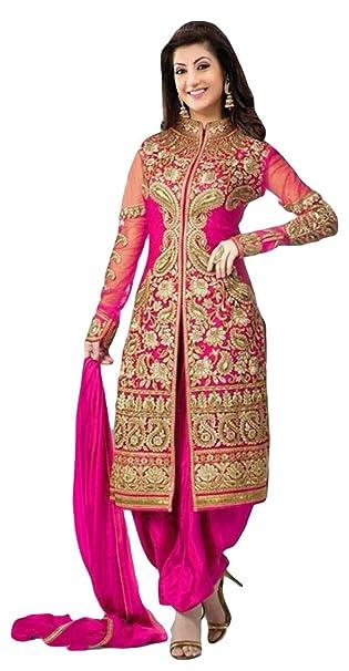 Mujer unstitched Salwar Kameez Vestido Material estilo indio por izboutique