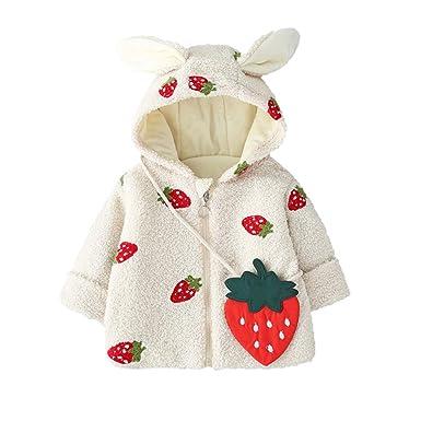 LHWY Chaqueta con Capucha Abrigo de Invierno para Niños Niñas Bebé ...