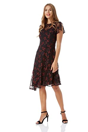 d5f6d3fc75e Roman Originals Women s Lace Dipped Hem Dress Sizes 10-20 at Amazon ...