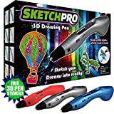 3D Printer Kit - LATEST EDITION 3D Pen Kit - 3D Printing Pen, Kid Gift w/ LED Screen - Art Toy w/ FREE Art Stencils for 3D Drawing - Arts and Crafts