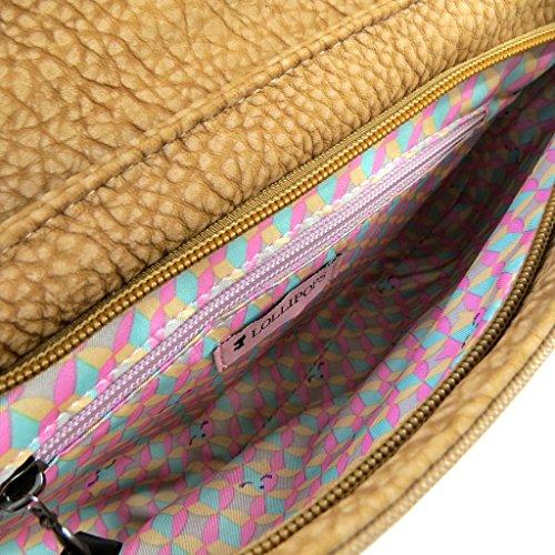 Pouch bag Lollipopscammello epoca - 28x18x3 cm.