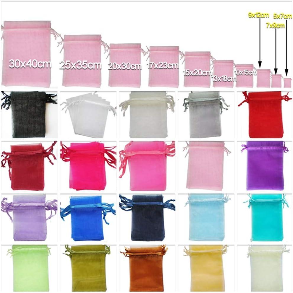 Rose Clair Sachets Pochettes Sac Organza Cadeau Luxueux Poche Bijoux Mariage 7x9cm-25pcs Time to Sparkle TtS 25 Pi/èces