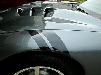 Hash Mark Stripes Double Bar Side Fender Stripe Grand Sport Decal Universal Cars