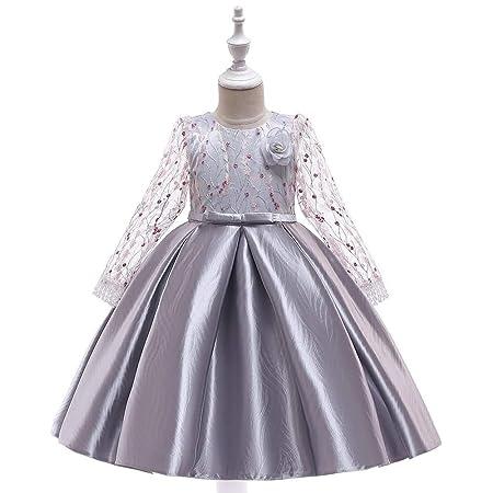 Hibeisi Princesa Falda niña Arco Satinado niña de Las Flores ...