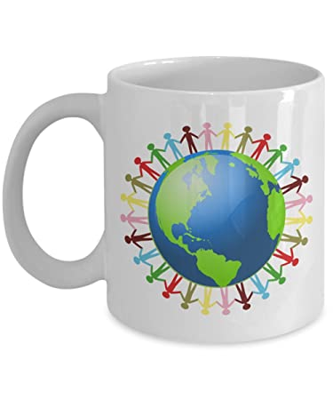 80c573519 Image Unavailable. Image not available for. Color  One Plantet One Human  Race Unity Mug