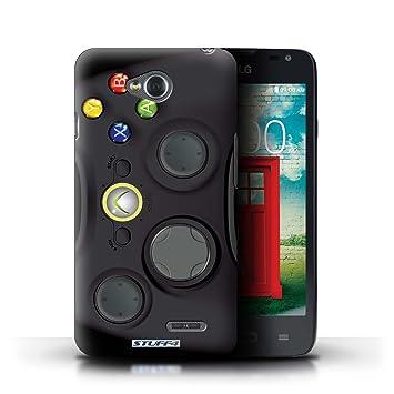 Carcasa/Funda STUFF4 dura para el LG L65/D280 / serie: Consola de juegos - Xbox 360 negro
