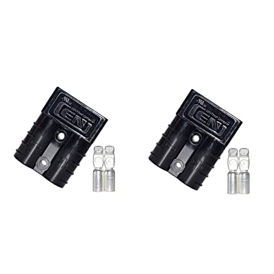LIXIN 50A Battery Connect Quick Connector Plug,(2 Pack for Quick Connection and Disconnection of Winches and Electrical Equipment (Black): Car Electronics