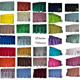 """Solid valance curtains Sage Green, Bright Yellow, Khaki, Royal Blue, Red, Orange, Lavender, Rust, Off-White, Kelly Green Valance Curtain. 58"""" wide Children day care center, classroom, school, bulk"""