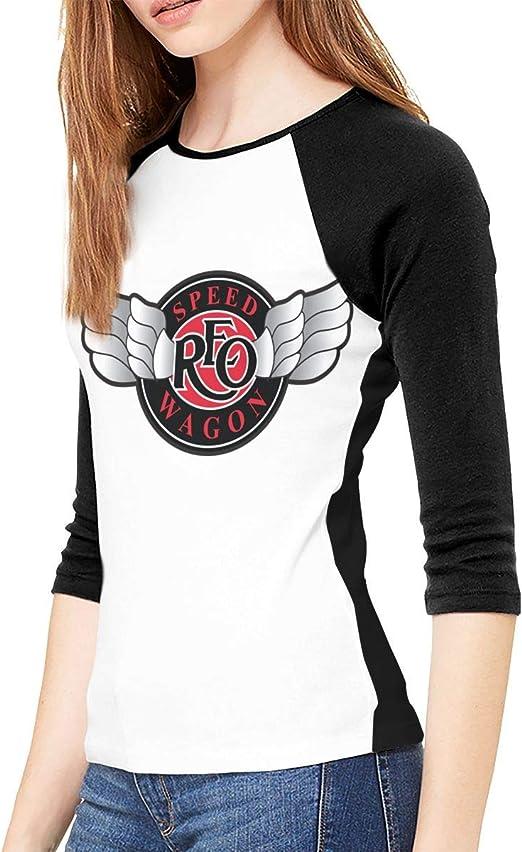 SkyeDana Saint Motel Womens Fashion Casual 3//4 Sleeves Shoulder Round Neck Baseball T-Shirt Shirt Long Shirt