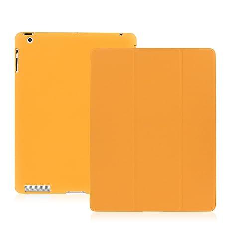 KHOMO Funda iPad 2, 3, 4 - Carcasa Naranja Protectora Ultra Delgada y Ligéra