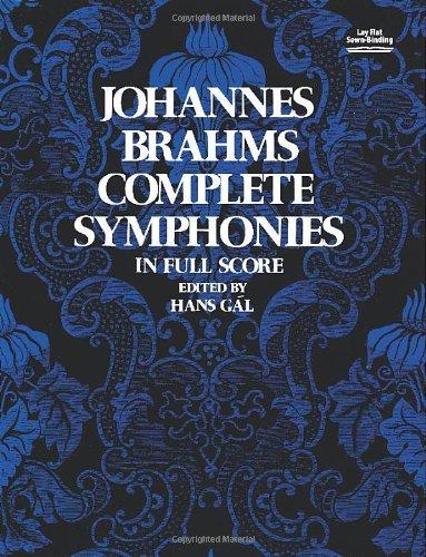 Johannes Brahms Complete Symphonies in Full Score (Vienna Gesellschaft Der Musikfreunde Edition) [Johannes Brahms] (Tapa Blanda)