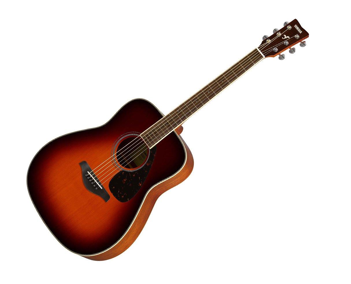 ヤマハ ギター 初心者 セット アコースティックギター FG820BS ブラウンサンバースト 入門13点セット チューナー付 B01BOEGI3S