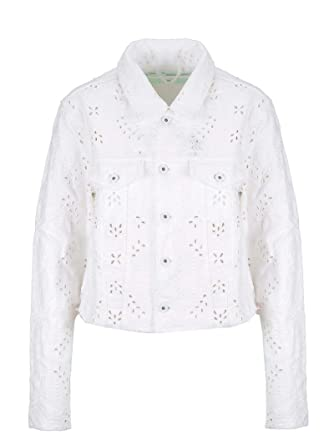 Blanc Off Owye008s19d620510101 Femme White Coton Blouson nwPOk0XN8