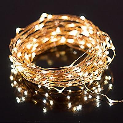 LED String Lights with 100 LEDs. Waterproof Decorative Lights - 33 ft (100 LEDs)